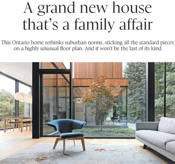 A grand new house that's a family affair