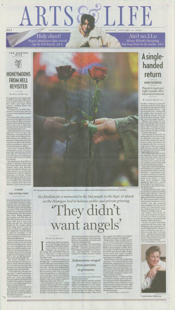 Pentagon Memorial published in National Post