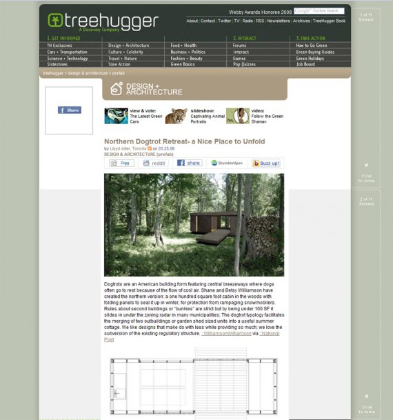 DogTrot featured on Treehugger