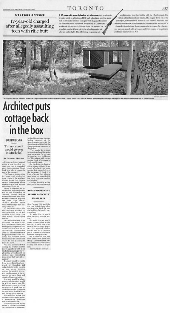 DogTrot published in National Post