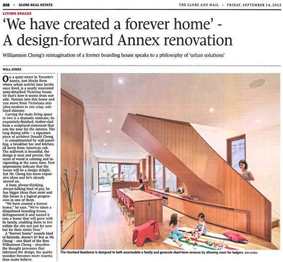 Blantyre House featured in The Globe and Mail