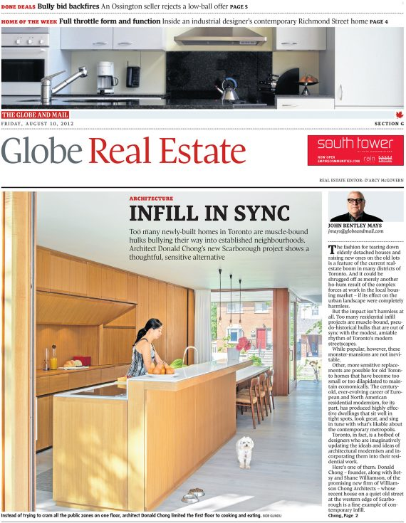 Howland Residence Featured in the Globe and Mail