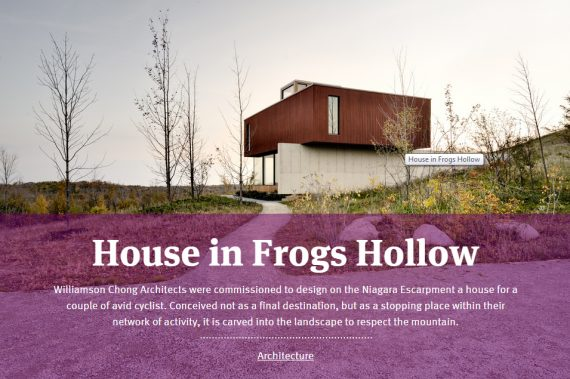 Domus Web Publishes the House in Frogs Hollow