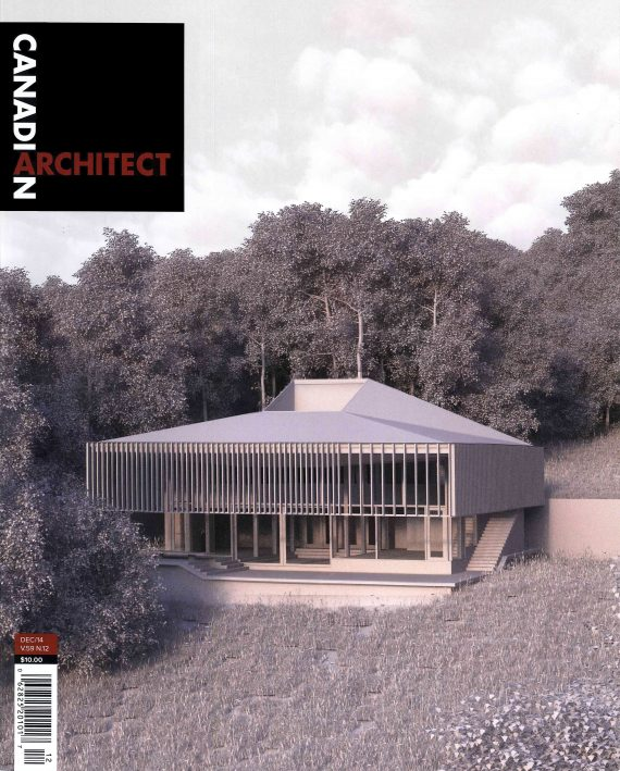 House on Fox Lake is featured on the cover of Canadian Architect