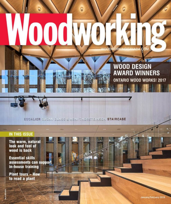 Woodworking Magazine features the 2017 Ontario Wood WORKS! Award Winners